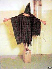 Abu Ghraib abuse photograph (AP Photo/Courtesy of The New Yorker)