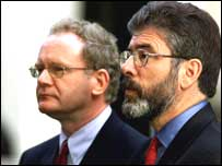 Gerry Adams (right) and Martin McGuinness