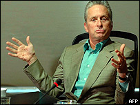 Michael Douglas, who played Gordon Gekko in Wall Street