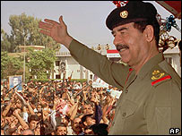 Saddam Hussein in 1995