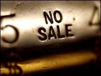 No sale notice on cash till, Eyewire