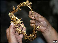 Crown wreath  found near Zlatinitsa