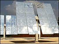 Solar mirrors (Image: BBC)