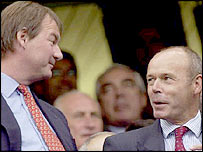 Southampton chairman Rupert Lowe and Sir Clive Woodward