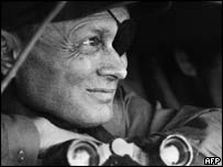 Israeli military leader and politician Moshe Dayan