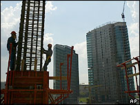 Construction site for Federation Complex, Moscow