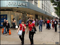 Shoppers in Oxford Street on Saturday