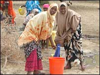 Women collecting water in Somalia (Copyright: Oxfam)