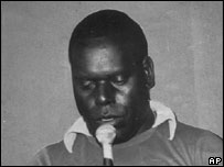 1990 photo of Francis Ona, the leader of the rebel army on the island of Bougainville