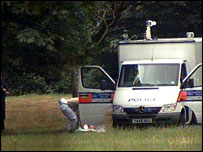Police at the scene in Little Wormwood Scrubs