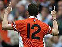 Oisin McConville's points secured Armagh's victory