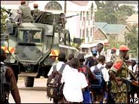 Military police in Kampala, Uganda