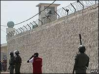 Police disperse Mr Seck's supporters outside Dakar's central prison