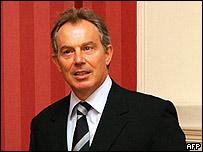El primer ministro británico Tony Blair