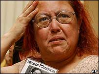 Rosa Silva, whose father was a victim of Gen Pinochet's regime