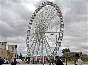 The big wheel on the quayside