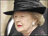 Baroness Thatcher at the funeral