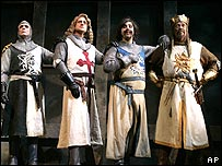 The New York cast of Spamalot