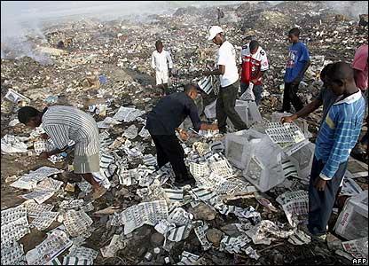 Empty ballot boxes found in Haiti