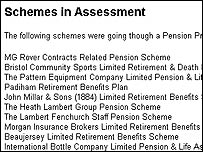 Schemes in assessment at the PPF