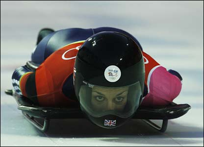 Britain's Shelley Rudman on her way to Britain's only medal of the 2006 Games