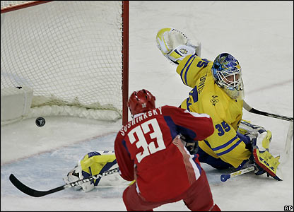 Maxim Sushinsky scores for Russia during their comprehensive victory