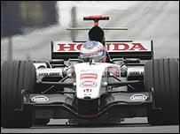 Jenson Button in action during the German Grand Prix