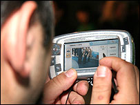 Image of mobile TV