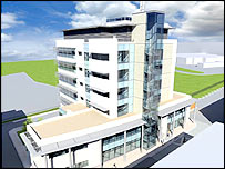 Artist's impression of the Institute of Life Science facility at Swansea University