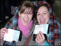 Fans with tickets