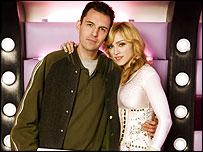 Madonna and presenter Tim Westwood inside the van
