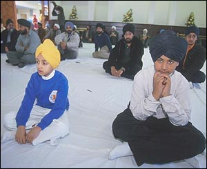 Children in Gurdwara at Hounslow