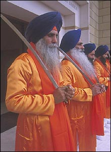 Sikhs guards with swords