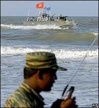 Tamil Tiger naval boat