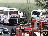 Coach crash near Cologne