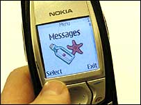 Message service on Nokia mobile phone