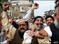 Protests in the city of Peshawar