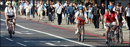 Cyclists in central London on day of attempted attacks