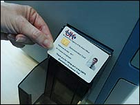 A sample ID card