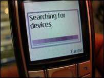 Mobile phone using Bluetooth - shows message &quot;searching for devices&quot;