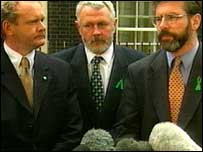 Martin McGuinness (left), Martin Ferris and Gerry Adams