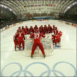 Russia and Switzerland's women's ice hockey teams meet in the placement rounds