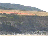 The dig is taking place on the cliff-top