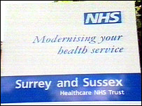 Surrey and Sussex Healthcare NHS Trust sign