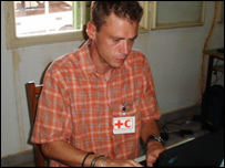 Red Cross worker Mark Snelling