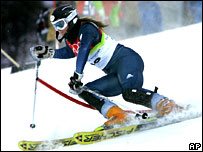 Chemmy Alcott in action in the combined slalom
