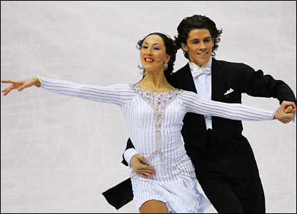 Figure skaters Sinead Kerr and John Kerr of Great Britain