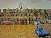Eight tonnes of cocaine seized by Portuguese police