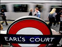 Metro londinense.