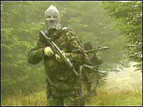 Picture of a gunman in an IRA propaganda film